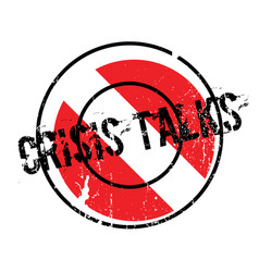 Crisis talks rubber stamp vector