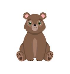 Cute little bear lovely animal cartoon character vector