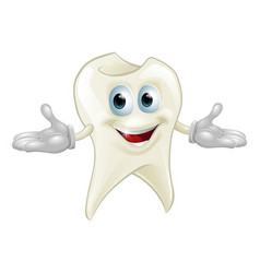 cute tooth dental mascot vector image