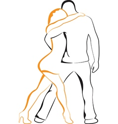 Dancing man and woman vector