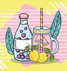 Delicious summer juice vector