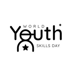 Design for celebrating world youth skills day in vector