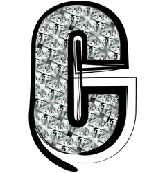 Diamond Font letter C vector image