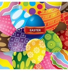 Easter egg background vector