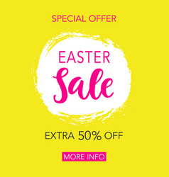 Easter sale banner design vector