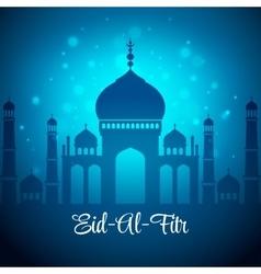 eid al fitr mubarak background vector image