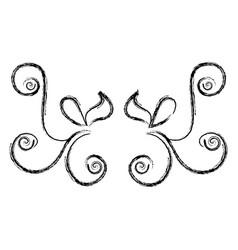 elegant victorian style design vector image