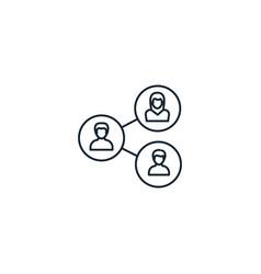 Employee relations creative icon line vector