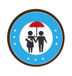 Family members character icon vector