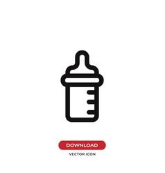 feeding bottle icon vector image