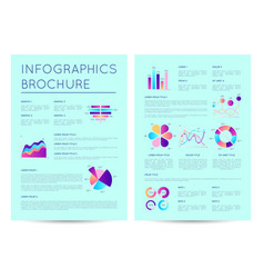 financial brochure with indicators diagrams vector image