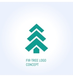 fir-tree logo vector image