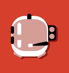 Flat icon design space helmet in sticker style vector