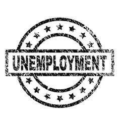 Grunge textured unemployment stamp seal vector