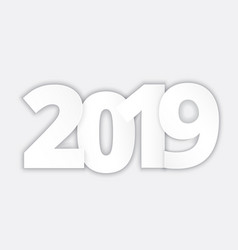 happy 2019 new year paper vector image