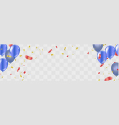 happy birthday gold confetti celebration vector image