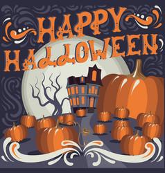 happy halloween quote typographical background vector image