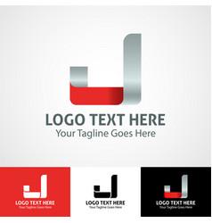 hi-tech trendy initial icon logo j vector image