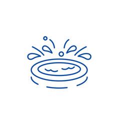 home kids pool line icon concept home kids pool vector image