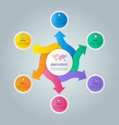 Infographic design business concept with 6 vector