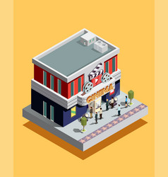 Isometric cinema vector