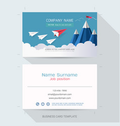 leadership business card or name card template vector image
