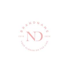 Letter nd logo design vector