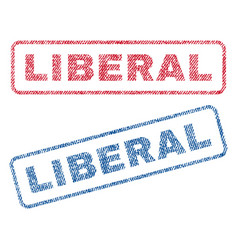 Liberal textile stamps vector
