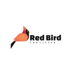 logo red bird gradient colorful style vector image