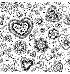 Love hearts seamless pattern 4 vector image