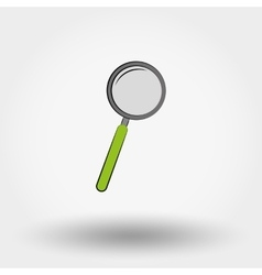 Magnifier icon vector