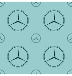 Mercedes Benz emblem on blue background vector