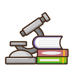 microscope books laboratory science vector image