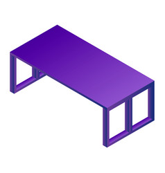 modern office table icon isometric style vector image
