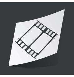 Monochrome movie sticker vector