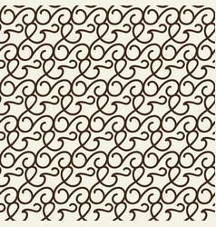 monochrome seamless swirls pattern vector image