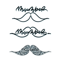 movember cancer awareness icon set vector image