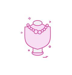 necklace icon design vector image