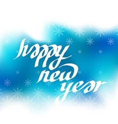 New Year greeting card with lettering Blur vector image