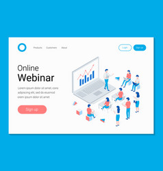online webinar training e-learning concept vector image