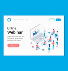 Online webinar training e-learning concept vector