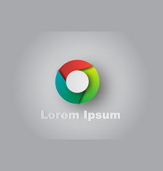 paper art of logo colorful turbine circle symbol vector image