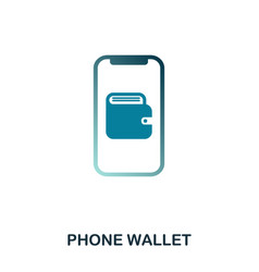 phone wallet icon flat style icon design ui vector image