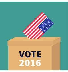 President election day Vote 2016 Ballot Voting box vector image