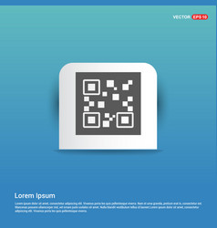 qr code icons - blue sticker button vector image
