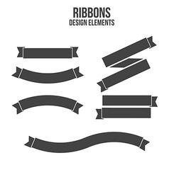 Ribbons Design elements vector image