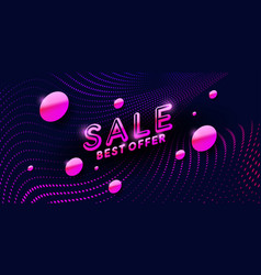 sale banner original poster discount with the vector image