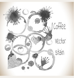 Set stains grunge glass stains vector