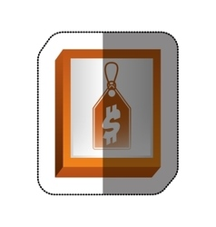 Shopping tag price vector