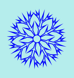 snowflake sign 2911 vector image